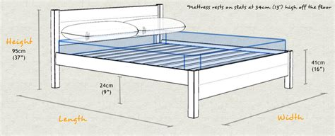 standard bed size oxford bed