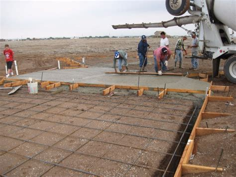 pouring concrete for a mobile home foundation