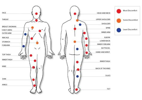 tattoo pain spots chart 03 wallpaper chart