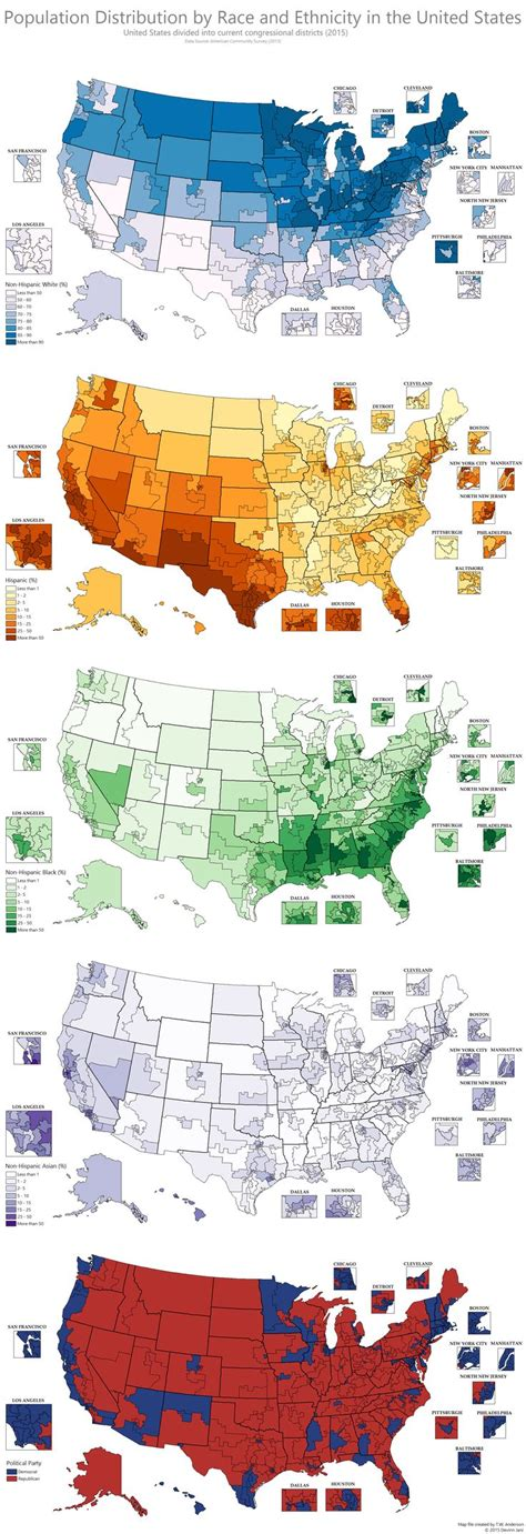 us demographics by race and ethnicity map race and ethnicity in american congressional districts