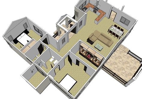 home construction design two bedroom single storey home nkd