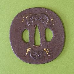 wheel tsuba sold tsuba gallery japanese quality authentic sword guards