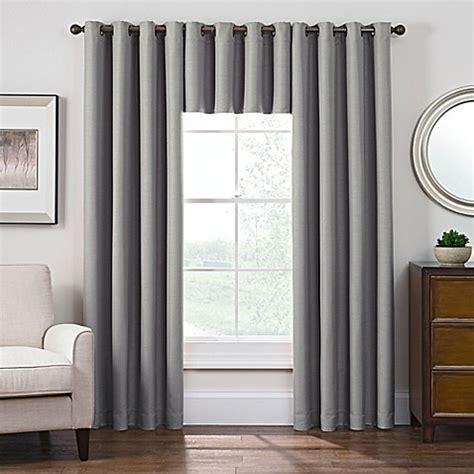 bed bath and beyond room darkening curtains antique satin room darkening grommet top window curtain