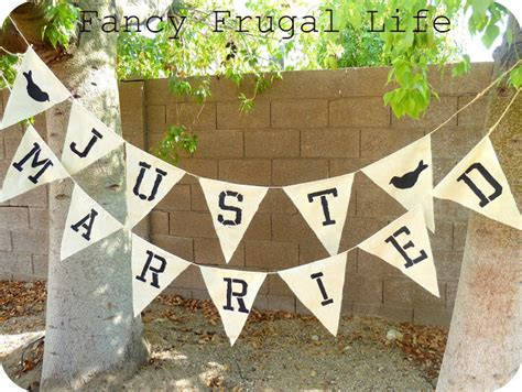 quot just married quot bunting banner