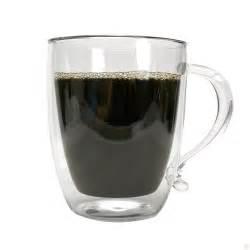 double wall borosilicate glass coffee mug primula