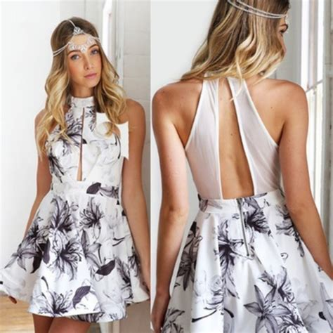 hairstyles for party gown dress party dress mini dress floral dress black white