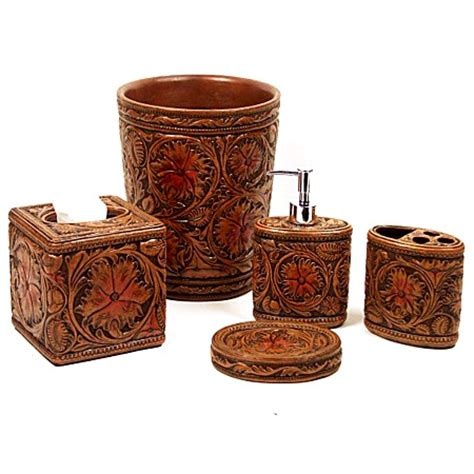 Western Bathroom Accessories Faux Tooled Western Lotion Soap