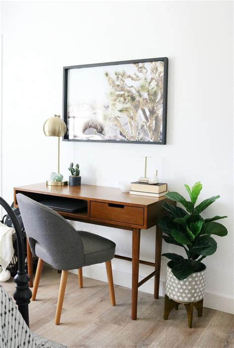 A Desk In by Mid Century Boho Inspired Workspace