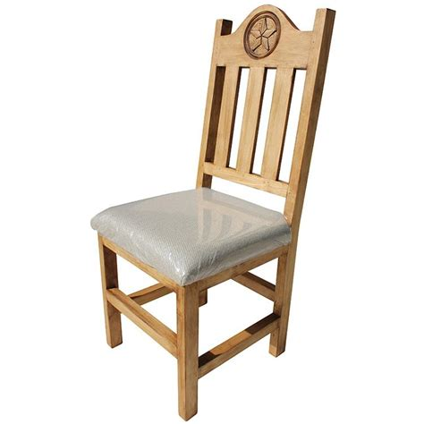 Lone Rustic Furniture by Rustic Pine Collection Lone Chair W Cushion Sil538