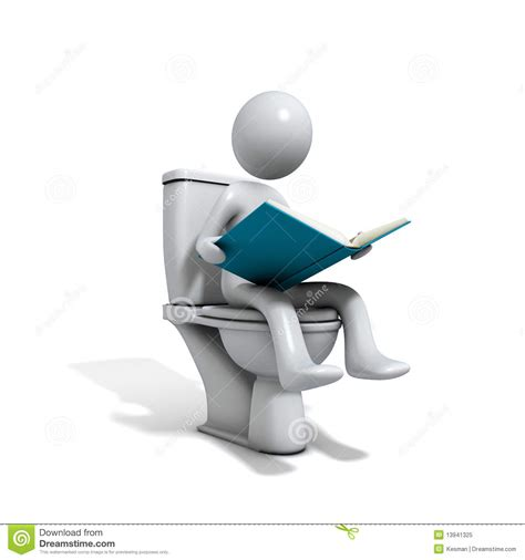 bathroom reading online reading on the toilet seat royalty free stock photo