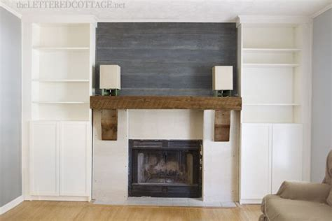 ikea bookcases around fireplace fireplace makeover rustic mantel billy bookcase built in