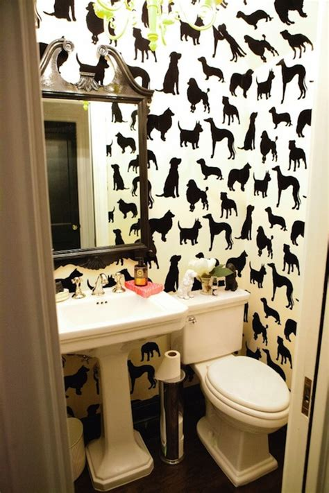 bathroom fun best in show wallpaper eclectic bathroom peppermint