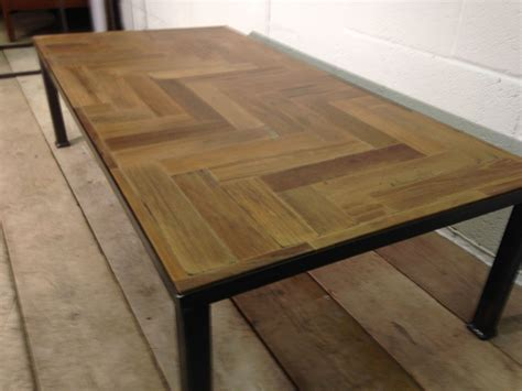 Parquet Coffee Table Wings Furniture And Interiors Reclaimed Parquet Coffee Table