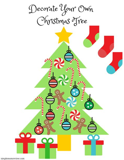 decorate your own christmas tree free printable simple