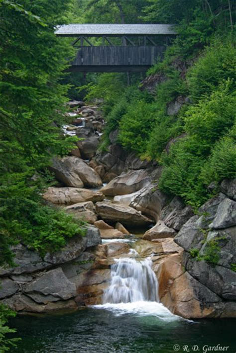 rodrick s guide to vermont waterfalls cascades gorges books the pool and covered bridge in flume gorge grafton county