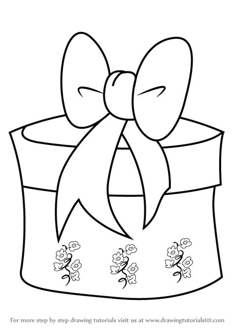 christmas drawing step by step and gift to gift cartoon learn how to draw giftbox with ribbon step by step drawing tutorials