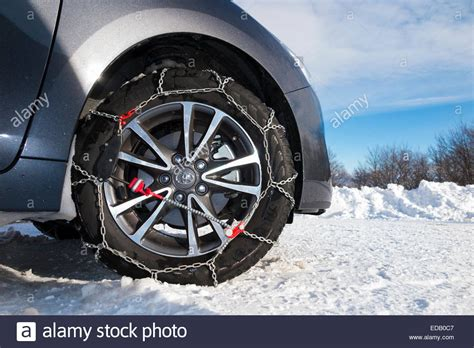 Front Wheel Drive Cars In Snow by Snow Chain Chains On Front Wheel Wheels Of A Car Also