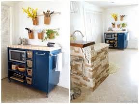 Kitchen Islands Diy Custom Diy Rolling Kitchen Island Reality Daydream