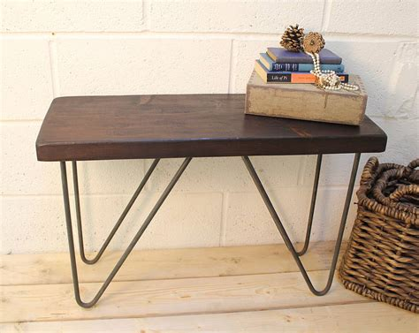 industrial style bench industrial style wood and steel bench by m 246 a design