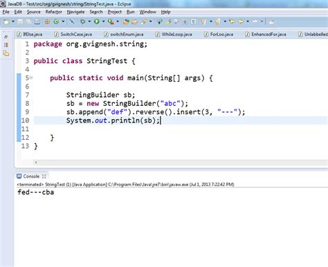 java same set of code working in eclipse ide and not