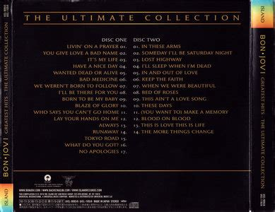 Bon Jovi Greatest Hits The Ultimate Collection 2cd 2010 bon jovi greatest hits the ultimate collection 2010 japan uicl 9095 6 shm cd avaxhome