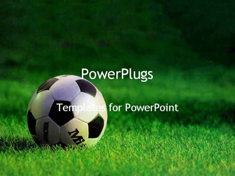 powerpoint templates soccer powerpoint template a up view of a on the