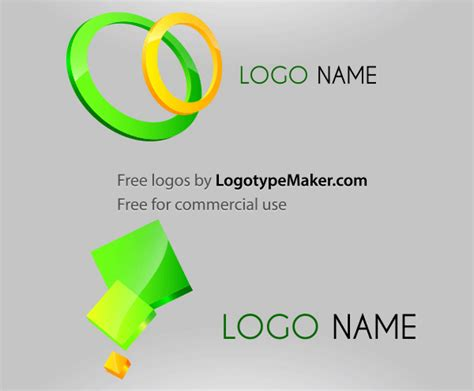 free 3d logo design vector 123freevectors