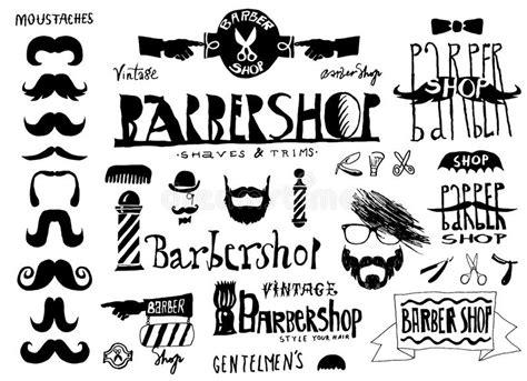 hairdresser retro design elements vector set of vintage barbershop hair salon logo labels