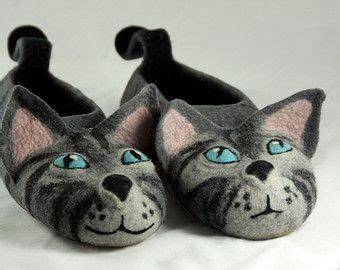 cat slippers for adults realistic cat portrait cat slippers felt by shimafiberart