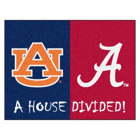house divided alabama auburn house divided area rug nylon 34 quot x 44 quot