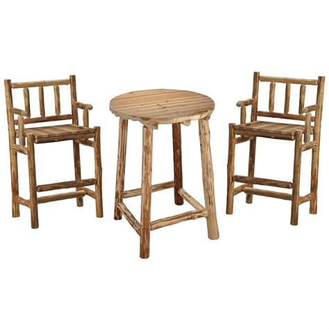 Log Pub Table And Chairs creek log pub table and chair set 140360 kitchen