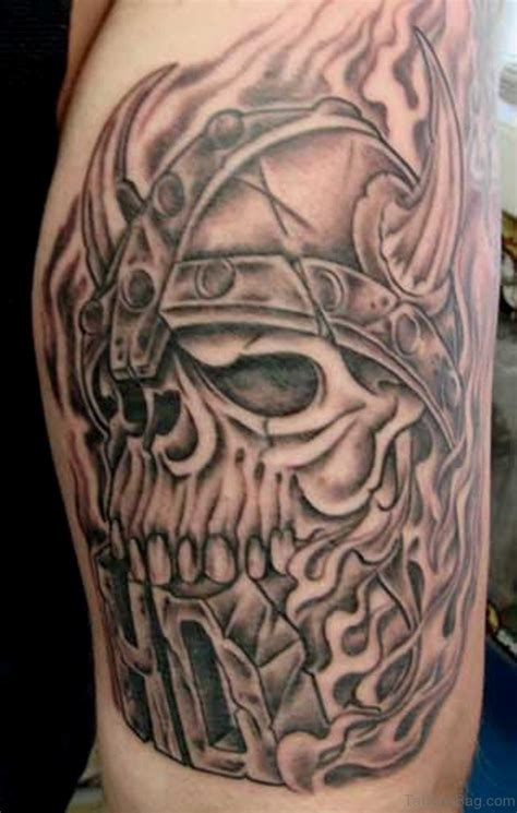 viking skull tattoos 57 magnifying viking tribal shoulder tattoos
