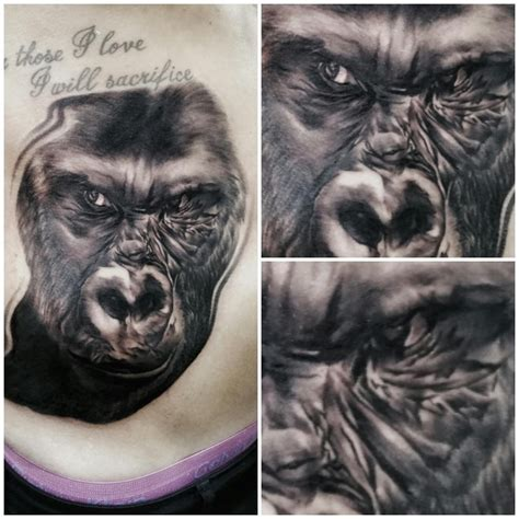 tattoo fixers michael jackson jay hutton on twitter quot silver back gorilla i did on