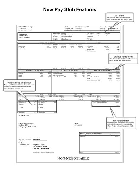 free paycheck stub template check on top format payroll check