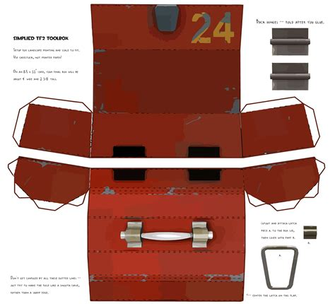 Papercraft Box Template - tf2 papercraft toolbox by propmedic on deviantart