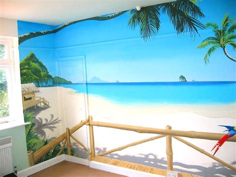 beach murals for bedrooms sacredart murals tropical paradise mural
