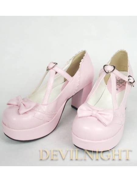 Sweet Black Shoes pink black sweet shoes with middle platform and