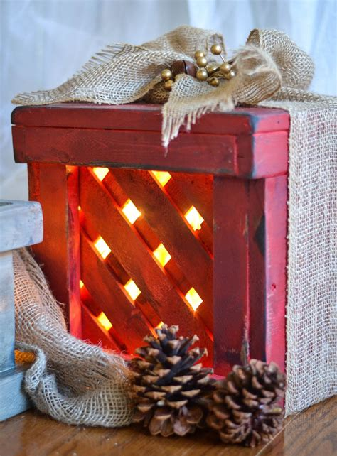 earth style  wooden christmas gift box decor