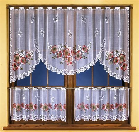 Set Of Kitchen Curtain Floral Design Ebay