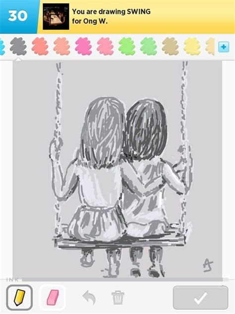 how to draw a swing swing drawings how to draw swing in draw something the