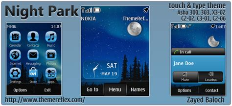 themes reflex nokia c2 02 night park themereflex