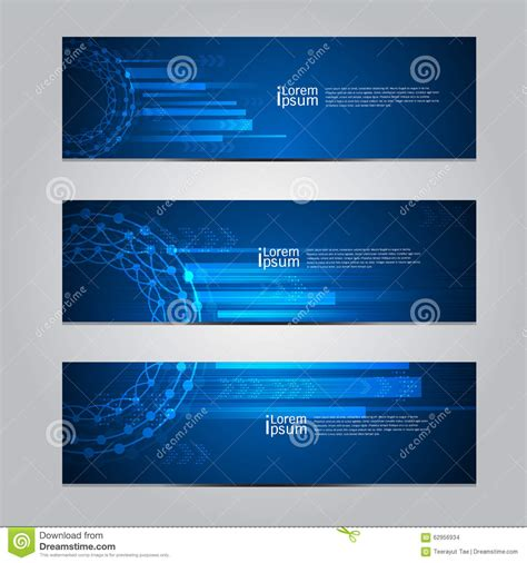 design technology banner vector design banner technology background stock vector