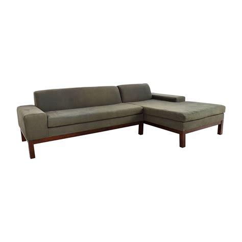 lorimer sectional 86 off west elm west elm lorimer green sectional sofas