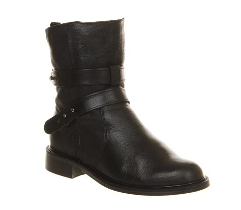 Black Master Boot Rossel Black poste willow biker boots black leather ankle boots