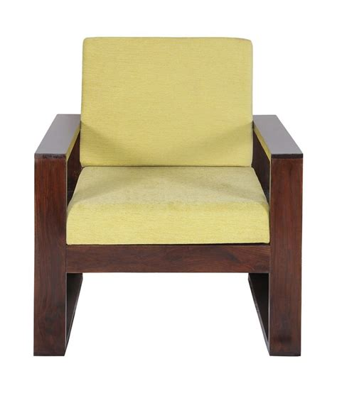 Wood Couches With Cushions by Sheesham Wood Sofa Chair With Green Cushion Buy Sheesham