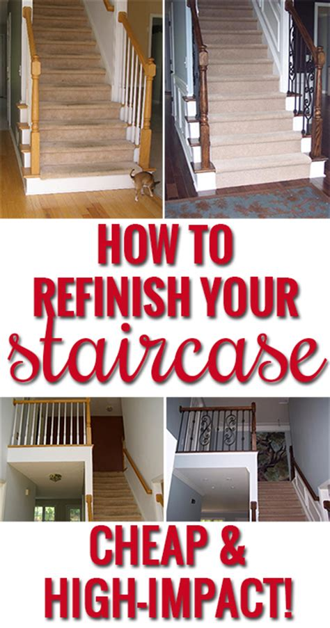 How To Refinish A Wood Banister by How To Refinish And Update Wood Stair Railings