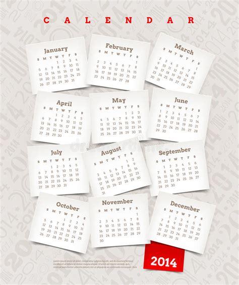 decorative calendar template decorative calendar of 2014 stock image image 33125281