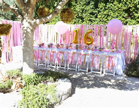 sweet sixteen backyard party ideas the coop sweet 16 party at home