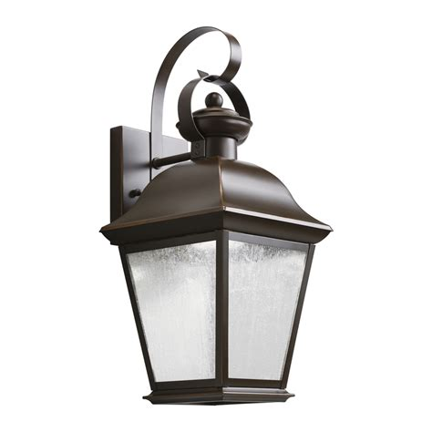 Led Outdoor Lighting Wall Mount Shop Kichler Mount Vernon 16 75 In H Olde Bronze Led Outdoor Wall Light At Lowes