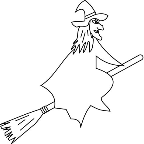 witch broomstick coloring page witch coloring pages witch on a broom coloring pages